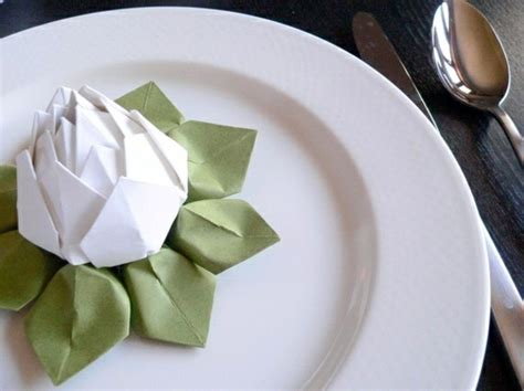 napkin folding origami paper napkin folding create festive