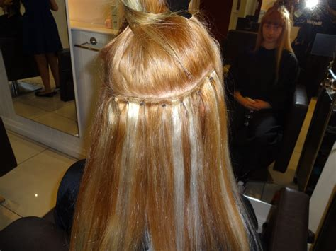 weft micro bead hair extensions weft with micro in progress kk hair hair extensions