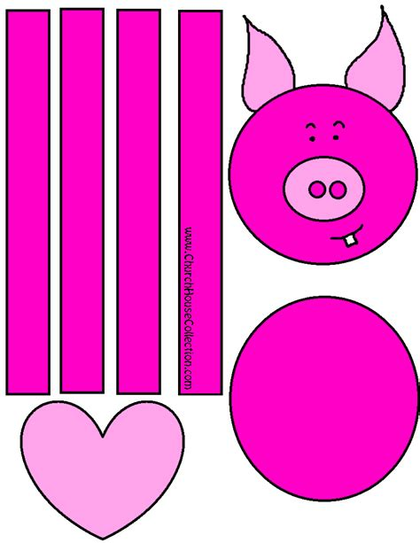 printable crafts for church house collection hog for jesus pig
