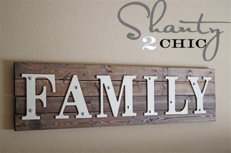 family woodworking diy wooden family sign shanty 2 chic