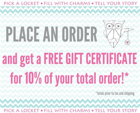 origami owl coupon code oragami owl gift certificate template invitations