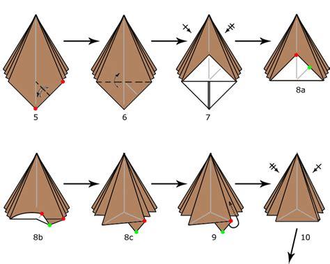 how to make an origami tree pyramid tree