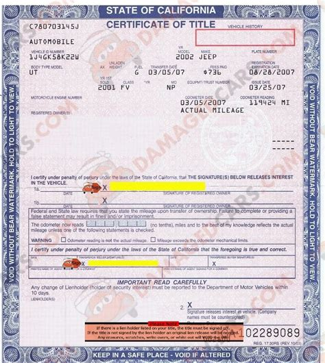 Rebuilt Car Title by California Car Title How To Transfer A Vehicle Rebuilt