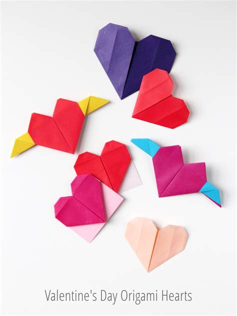 origami for valentines s day origami hearts three ways gathering