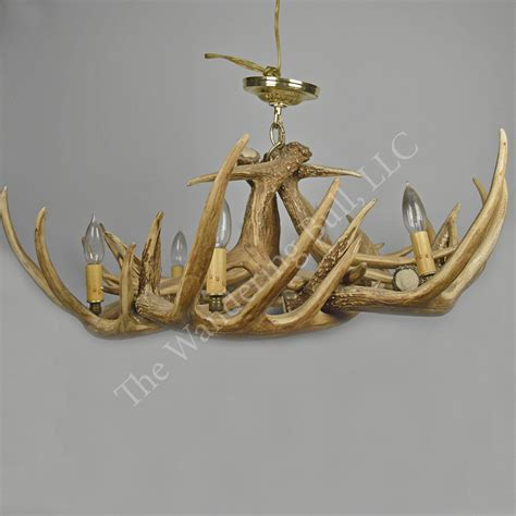 deer chandelier deer antler chandelier replica the wandering bull llc