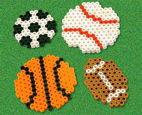 perler football circles soccer and baby mobiles on