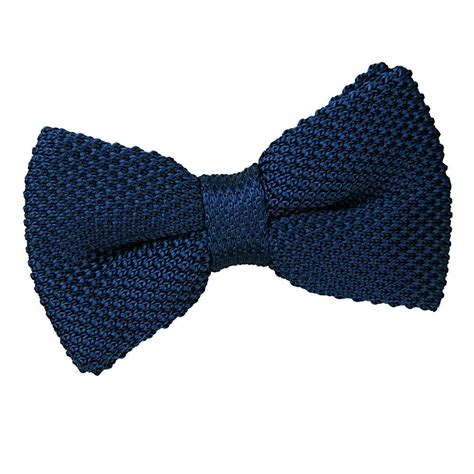 knitted bow tie s knitted navy blue bow tie
