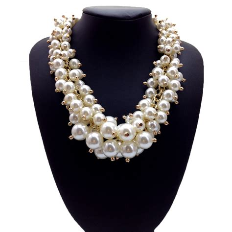 make fashion jewelry new design fashion jewelry whoesale pearl choker necklace