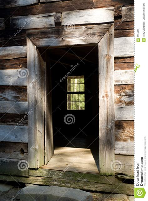 Free A Frame House Plans open door of a rustic cabin stock photo image 7328830