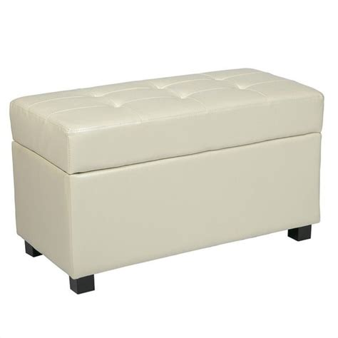storage bench ottoman storage bench ottoman in faux leather met804cm