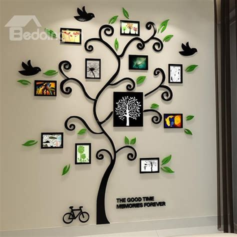 Photo Frame Wall Stickers fantastic family tree pattern photo frame 3d wall sticker