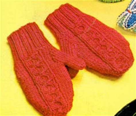 free knitting pattern for mittens on 2 needles two needle split cable mittens pattern free knit