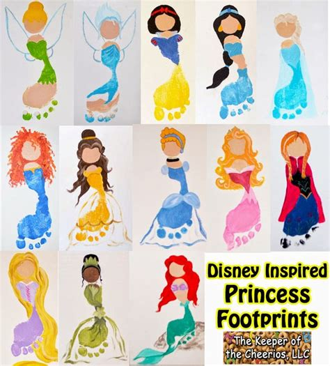 disney crafts the keeper of the cheerios disney princess footprints for