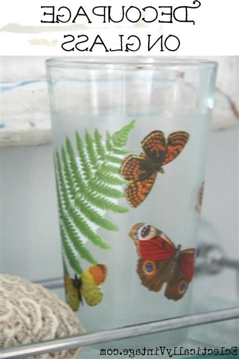 decoupage waterproof decoupage with photos on glass