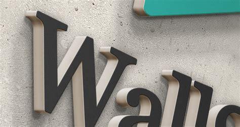 3d wall logo mock up template psd mock up templates