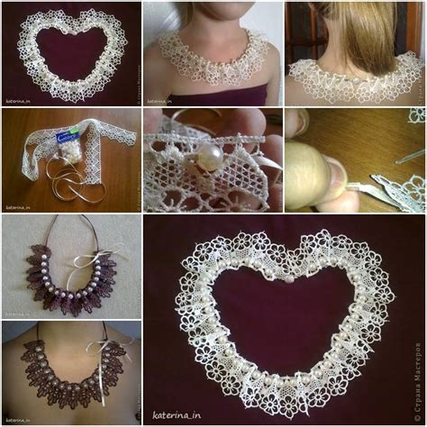 how to sew onto lace how to make sew lace collar step by step diy