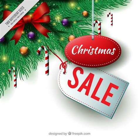 decorations sales sale background with fir decoration vector