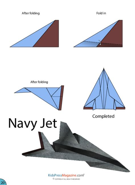 Paper Airplane Navy Jet Kidspressmagazine