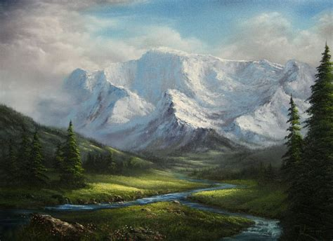 acrylic painting kevin quot fork in the river quot by kevin hill paintwithkevin