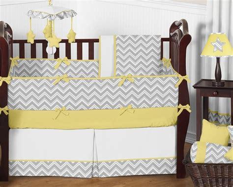 yellow baby bedding gray and yellow chevron zig zag baby bedding 9pc crib