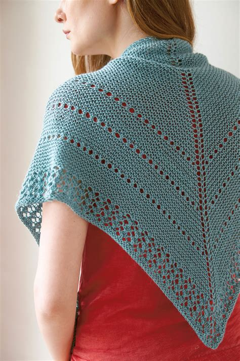 knit up abrams how to basic top triangle shawl
