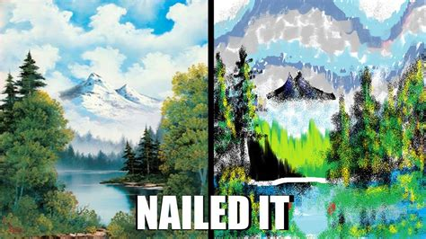 bob ross painting buy bob ross vs ms paint by link1ovaganon on deviantart