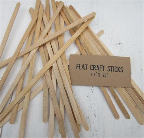 stick crafts for 100 slim craft sticks wood sticks flat dowels 7 5