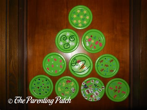 paper plate tree paper plate wall tree craft parenting patch