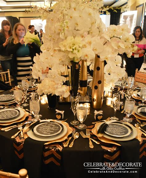 gold table centerpieces amazing tablescapes from bash conference