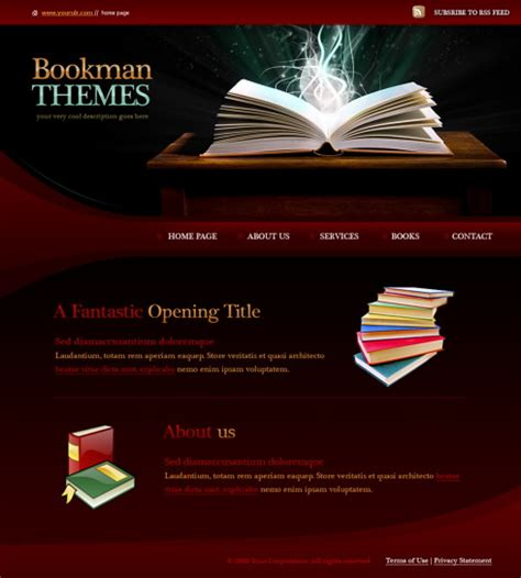 picture book websites books html template 5963 education website