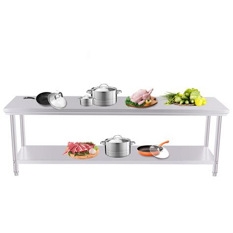 stainless steel kitchen prep table commercial kitchen stainless steel food work prep table