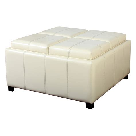 white leather ottoman coffee table best selling home decor dartmouth four sectioned leather