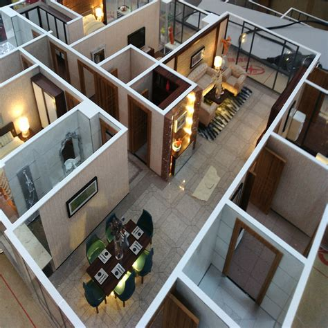 model miniatures interior layout house model scale model apartment