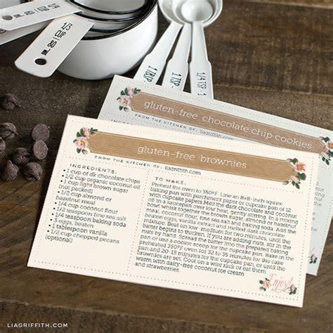 make a recipe card printable recipe cards