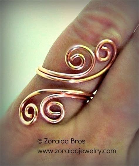 how to make rings out of wire and easy adjustable spiral ring tutorial 183 how to make a wire
