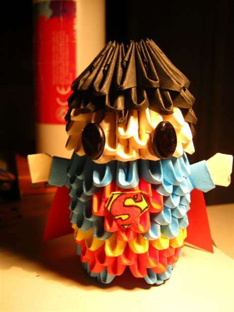 3d origami superman 3d origami superman by teubo on deviantart