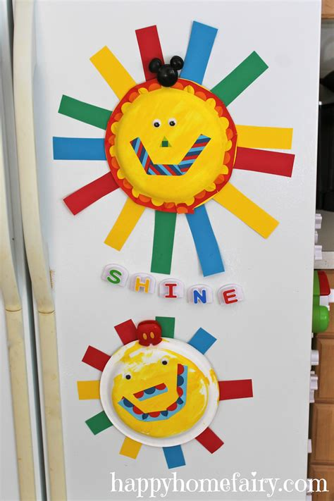 sun paper plate craft easy summer sun paper plate craft happy home