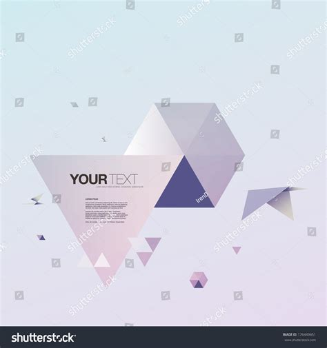 origami world abstract 3d origami world bird triangles stock vector