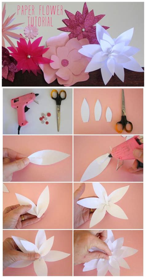 lotus flower paper craft paper lotus flower tutorial from the happy home flower
