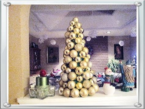 how to make a tree with ornaments how to make ornament tree for 10
