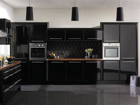 pics of kitchens with black cabinets kitchen decorating ideas black kitchen house interior