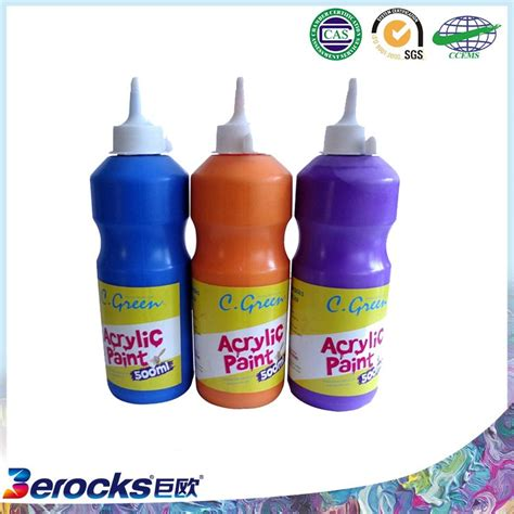 acrylic paint in plastic high durability excellent quality plastic bottle acrylic