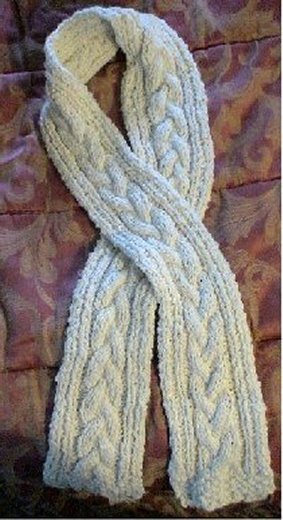 easy cable knit scarf cabled scarf
