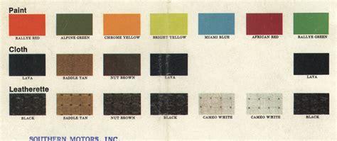 Volkswagen Colors by Vwvortex Mk1 Paint Codes