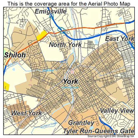 york pa aerial photography map of york pa pennsylvania