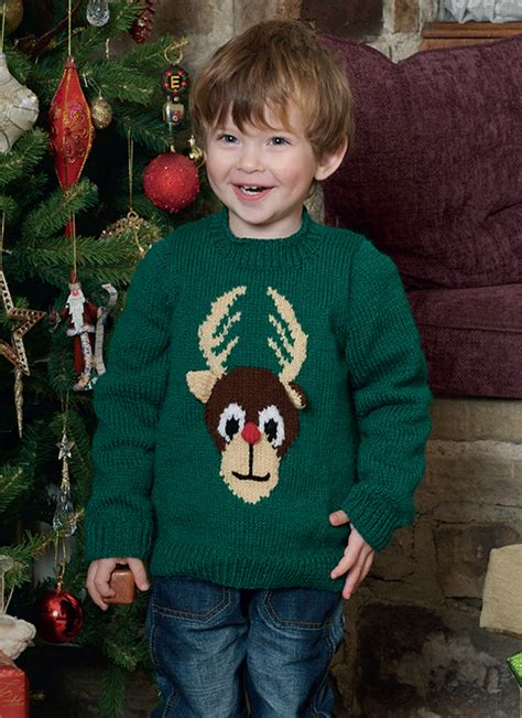 patons childrens knitting patterns free free pattern knitted children s reindeer jumper in