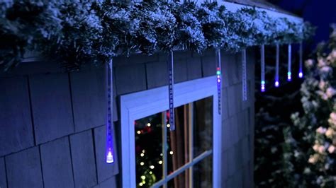 led cascading icicle lights philips 6 ct cascading icicle light set