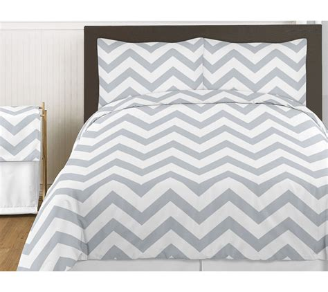 chevron bedding set gray white chevron zigzag size bed in a bag