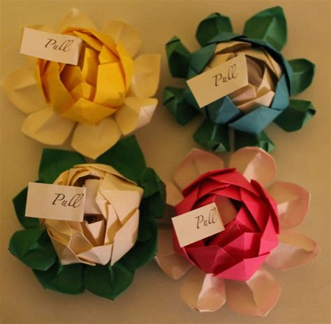 origami wedding favors 100 origami lotus blossoms with personalized message any