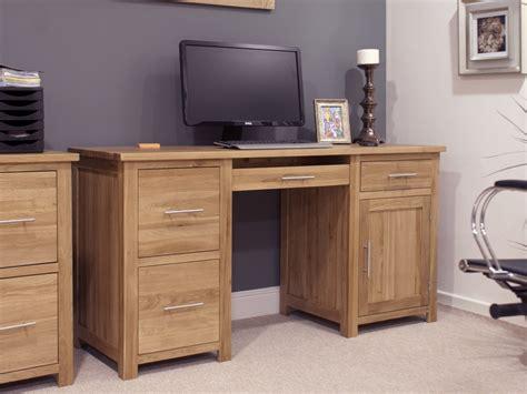 oak office desk eton solid oak furniture large office computer desk